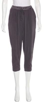 Ramy Brook Silk Mid-Rise Straight Pants