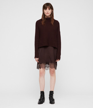 AllSaints Eloise Funnel Neck Dress