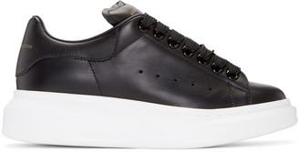 Alexander McQueen Black Oversized Sneakers $575 thestylecure.com