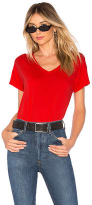 Bobi Light Weight Jersey V Neck Tee