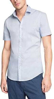 Esprit Men's Stretch Poplin Short Sleeve Slim Fit Dress Shirt,(Manufacturer Size:37-38)