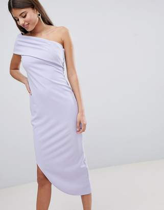 a4a97c61 City Goddess One Shoulder Aysmetric Midi Dress