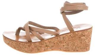 K Jacques St Tropez Wrap-Around Wedge Sandals