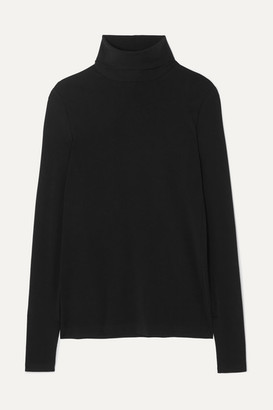 Wolford Aurora Modal-blend Jersey Turtleneck Top - Black