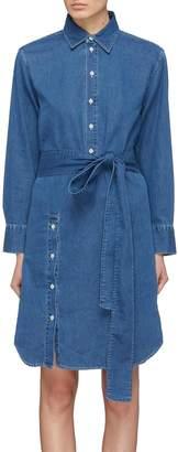 Acne Studios Belted button placket denim shirt dress
