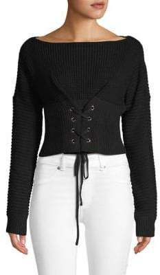Ribbed Corset Sweater
