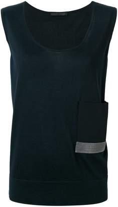 Fabiana Filippi contrast pocket scoop vest