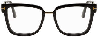 Tom Ford Black and Gold Thin Square Glasses