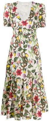 Borgo de Nor Lucia tropical print flared dress