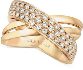 LeVian Le Vian Diamond Crisscross Ring (1/2 ct. t.w.) in 14k Gold