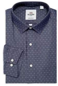 Ben Sherman Slim-Fit Dotted Dress Shirt
