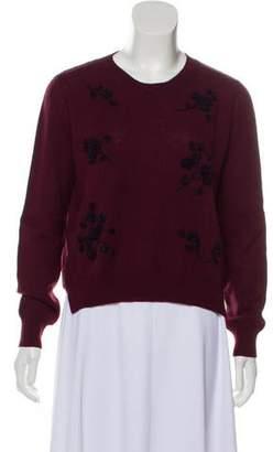 Miu Miu Floral Appliqué Sweater