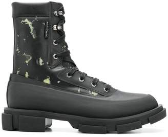 Both camouflage print ankle boots