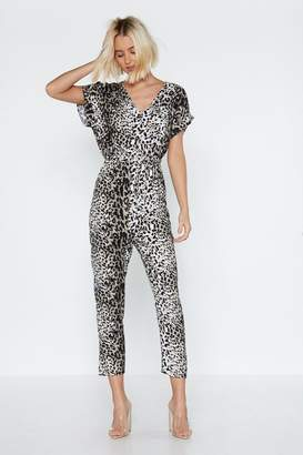 Nasty Gal Leopard At Work Relaxed Jumpsuit