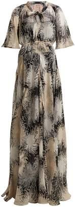 No.21 NO. 21 Chrysanthemum-print silk-chiffon maxi dress