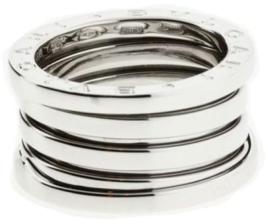 Bvlgari Bulgari B.zero1 18K White Gold Band Ring Size 8.25