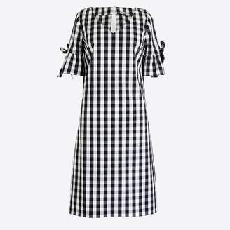 J.Crew Factory Tie-sleeve dress in gingham