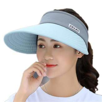 4f934cfad6fd5 MaxxCloud Women s Sun Visor Hats Large Brim Summer UV Protection Beach Cap