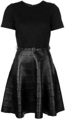 Karl Lagerfeld belted skater dress