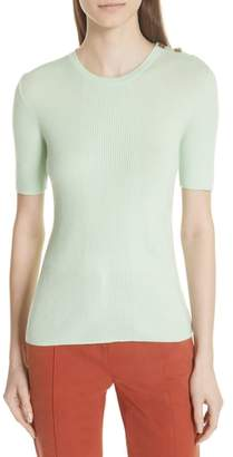 Tory Burch Taylor Ribbed Cashmere Sweater