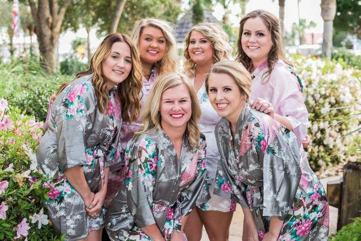 Etsy Mix&Match Bridesmaid Robes, Set of Bridesmaid Robes, Floral Kimono Robes, Bridesmaid Gift, Wedding R