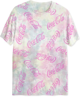 Hybrid Coca-Cola Men Uv Sunlight Activated Tie Dyed Graphic T-Shirt