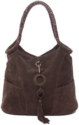 Carla Mancini Suede Tall Shoulder Bag