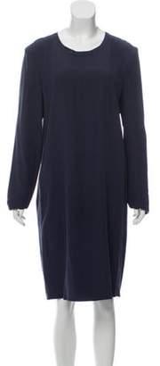 Calvin Klein Collection Silk Knee-Length Dress Grey Silk Knee-Length Dress