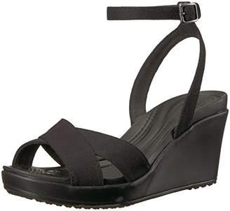 7d2bbd6aa1 Crocs Women's Leigh II Ankle Strap Wedge W Sandal