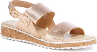 Tu Clothing Sole Comfort Gold Two Band Sandals