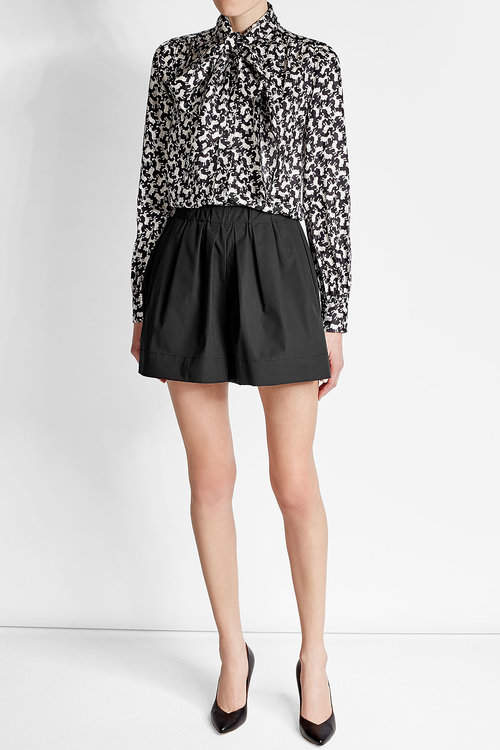Marc JacobsMarc Jacobs Pleated Shorts with Cotton