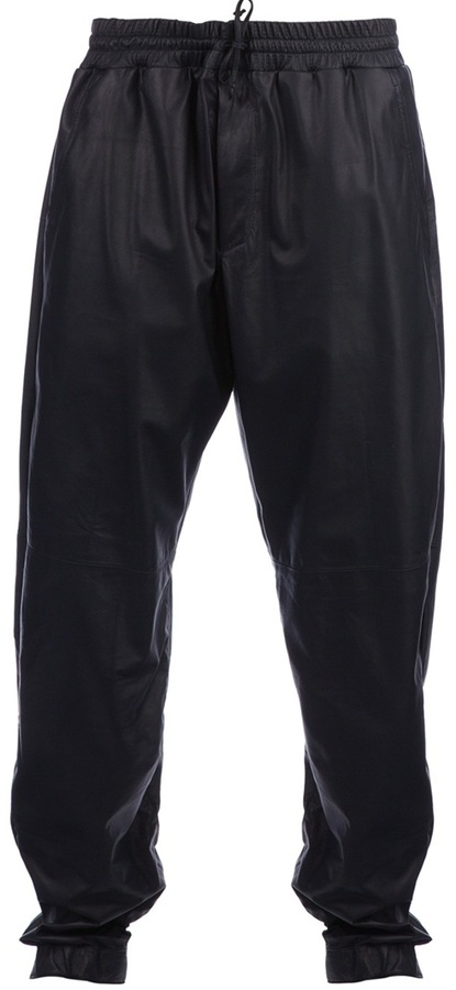 Drome drawstring leather trouser