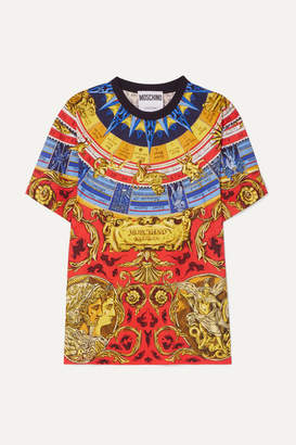 Moschino Oversized Printed Cotton-jersey T-shirt - Gold