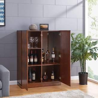 Mid-Century MODERN Southern Enterprises Rydoria Anywhere Cabinet, Midcentury Modern Style, Dark Sienna