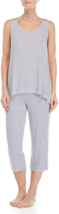 Company Ellen Tracy Two-Piece Striped Tank & Pants PJ Set