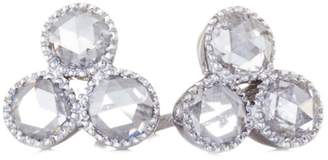 Couture SETHI Three Diamond Stud Earrings