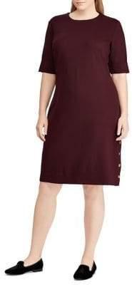 Lauren Ralph Lauren Plus Button-Trim Ponte Dress