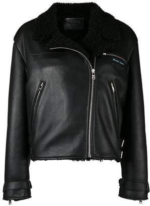 Prada shearling-lined bomber jacket