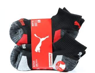 Puma Inc. Boy's Quarter Crew Low Cut Socks - 6 Pairs