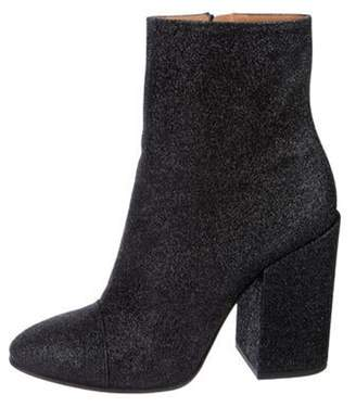 Dries Van Noten Glitter Ankle Boots Black Glitter Ankle Boots