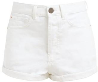 Raey Low Cut Off Denim Shorts - Womens - White