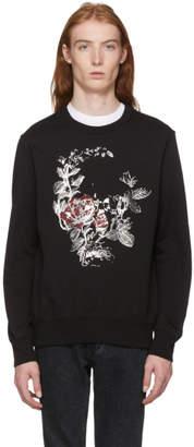 Alexander McQueen Black Gothic Rose Sweatshirt