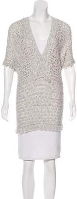 White + Warren Open Knit Tunic Top