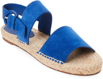 Celine Royal Blue Double Band Espadrille Sandals