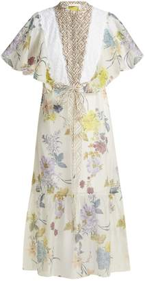 See by Chloe Floral and geometric-print chiffon maxi dress
