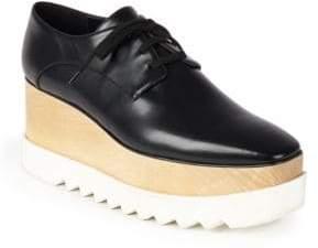 Stella McCartney Faux Leather Platform Oxfords