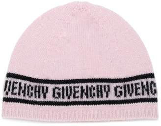 Givenchy Kids logo intarsia knitted hat