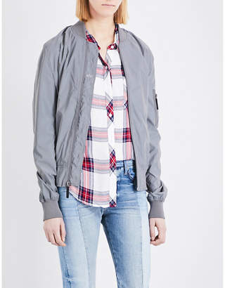 Alpha Industries Alpha shell bomber jacket $179 thestylecure.com