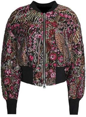 Embroidered Twill Jacket