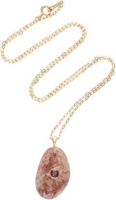 Cvc Stones Libertine 18K Gold Ruby Necklace